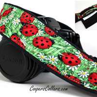 Pocket dSLR Camera Strap, Ladybug, Red, Green,SLR