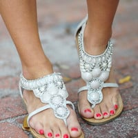 RESTOCK Rock Your World Sandals: Light Grey | Hope&#x27;s
