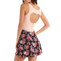 Zip-Back Heart Cutout Crop Top: Charlotte Russe