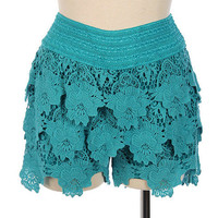 Crochet Lace Shorts from Shopbellastyle