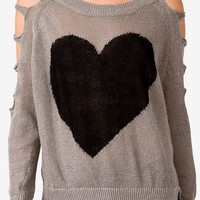 Cutout Heart Sweater | FOREVER 21 - 2035135413