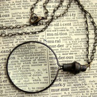 Monocle Necklace by ragtrader on Etsy