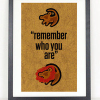 Lion King - Remember Who You Are- Minimalist Movie Poster