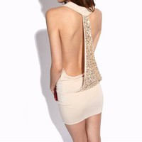 Krazy Sexy Backless Sequined Dress