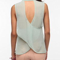 Lucca Couture Surplice Back Sleeveless Blouse
