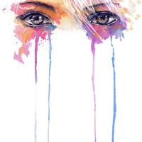Rainbow Tears Art Print by Aurora Wienhold | Society6