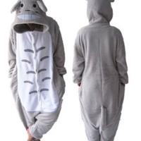 "COS365 My Neighbor Totoro Kigurumi Pajamas Adult Anime Cosplay Halloween Costume ,size XL (70""-74"")"