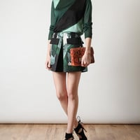 Browns fashion & designer clothes & clothing | PROENZA SCHOULER | Python Printed Cotton Miniskirt