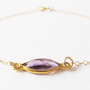 Gold Amethyst Bracelet, 14kt Gold Filled Bracelet, Gift for Her