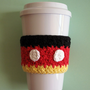 Mickey Mouse Inspired Crochet Coffee Cozy