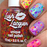 NEW Neon--Clowning Around:  Custom-Blended NEON Glitter Nail Polish / Lacquer