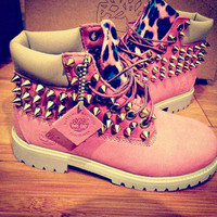 ON SALE! Leopard Spike Timberland
