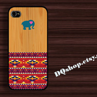 Elephant  Aztec - iPhone 4 Case iPhone 4s Case iPhone 5 Case idea case