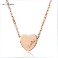 sweet lucky loving heart fastcolours necklace