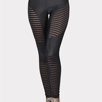 Motorcycle Leggings - Black