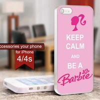 keep calm barbie - For iPhone 4 / 4s case