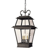 One Kings Lane - Visual Comfort - French 3-Light Hanging Lantern, Bronze
