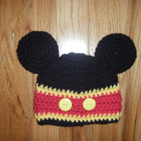 Mickey Mouse Inspired Hat by littlebugaboos on Etsy