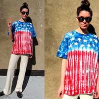 90&#x27;s American Flag Red White Blue Stars by SomeVelvetVintage