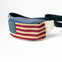 Fanny pack waist bag belt bag hip bag by BartekDesign Spring collection - american flag usa blue red jeans denim