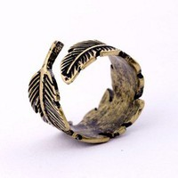 Fashion Vintage Adjustable Leaf Ring