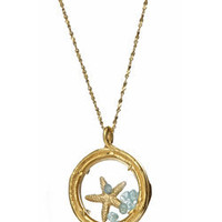 Max & Chloe - Catherine Weitzman Gold Starfish Locket Necklace - Max and Chloe