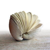 Offering No 44  Handstitched Clamshell Book Sculpture by odelae