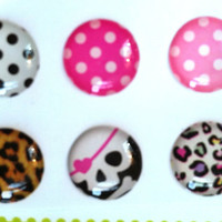 6 pcs Dots Leopard and Skulls iPhone iPad by KaiCoutureCases