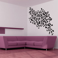Vinyl Wall Decal Sticker Leopard Print 1029m