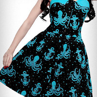 Out to Sea Octopus Dress | PLASTICLAND