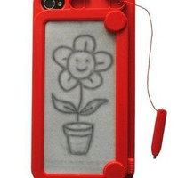 Hottest Red Creative Drawing Board Protective Case for iPhone 4/4S
