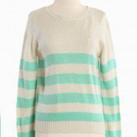 Dear True Love Crew Neck Sweater In Mint | Modern Vintage Mint Condition