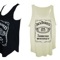 Jack daniels tank tops vest ladies one size by Littlekathmandu