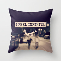I Feel Infinite Throw Pillow by Caleb Troy | Society6