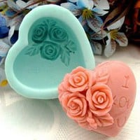 Amazon.com: Rose Decoration Heart Silicone Soap mold Craft Molds DIY: Arts, Crafts & Sewing