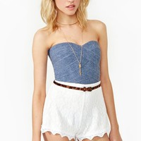 In Charge Bustier - Denim