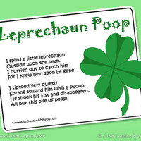 Leprechaun Poop St Patrick's Day Gag Gift Design DIY Printable by ABitCreativeAMP