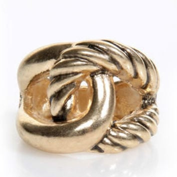 Knot of This World Gold Stretch Ring