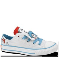 White & Blue Dr Seuss Kids Shoes : Kids Converse Shoes | Converse.com
