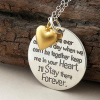 FRIENDSHIP necklace ... If there ever comes a day ... Special Edition ... sterling silver ... inspirational quote ... Winnie Pooh