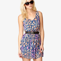 Multicolored Geo Print Dress