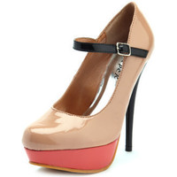 Charlotte Russe - Patent Color-Block Mary Jane Pump