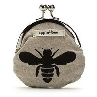 Buy apple &amp; bee embroidered coin purse, hemp bee &amp; More | Beauty.com