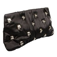 Buy Betsey Johnson Handbags Skull Party: Clutch, Black &amp; More | Beauty.com