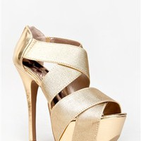 Qupid KOY-19 Wide Strap Metallic Heel | Shop Qupid Shoes