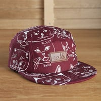 CMBK Cat Hat 5 Panel (Burgundy)