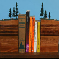 BookEnds of the Earth Conifer Forest by GarthBorovickaDesign