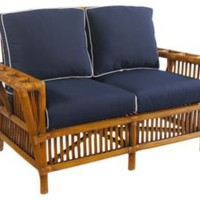 One Kings Lane - Island Living - Kenian Kennebunk Rattan Settee