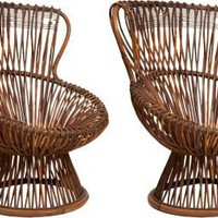One Kings Lane - ROARK Antiques and Design - Franco Albini Margarita Chairs, Pair