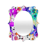 DENY Designs Home Accessories | Holly Sharpe Lost In Botanica 1 Quatrefoil Mirror